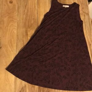 NWOT LOFT Sleeveless T-Shirt Dress Maroon Size S